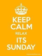 Keep calm relax it s sunday kopie