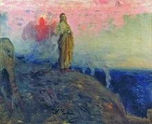 Verzoeking in de woestijn, Ilya Repin (1901)